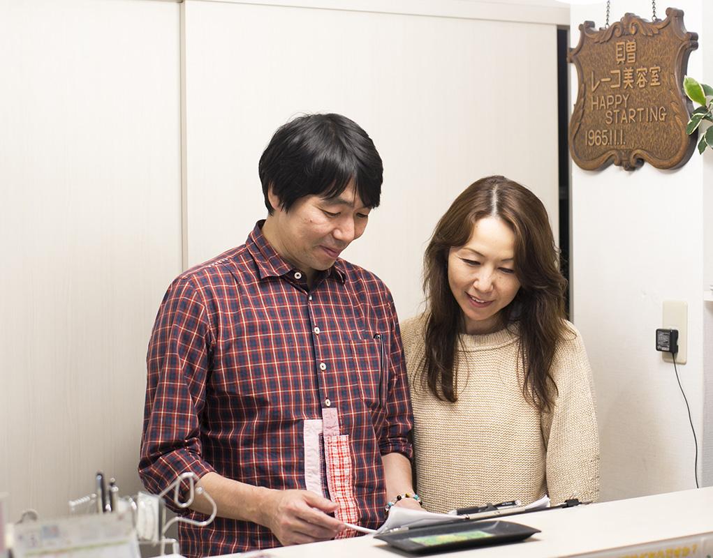 常務である奥さま(右)は、マネジメントを担当。オーナーの藤本さん(左)とともに「女性が長く働ける職場づくり」を進めている
