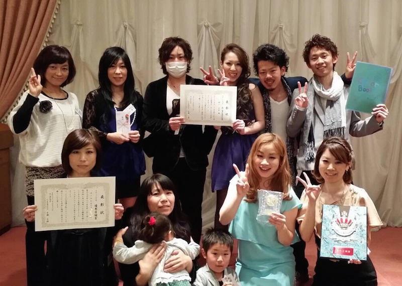 「Ai-ney」では、前年に採用されたスタッフの「入社式」を毎年4月に開催。同時に優秀者の表彰式も行っている。このときだけは全員が集まり、ママスタッフは子連れで参加