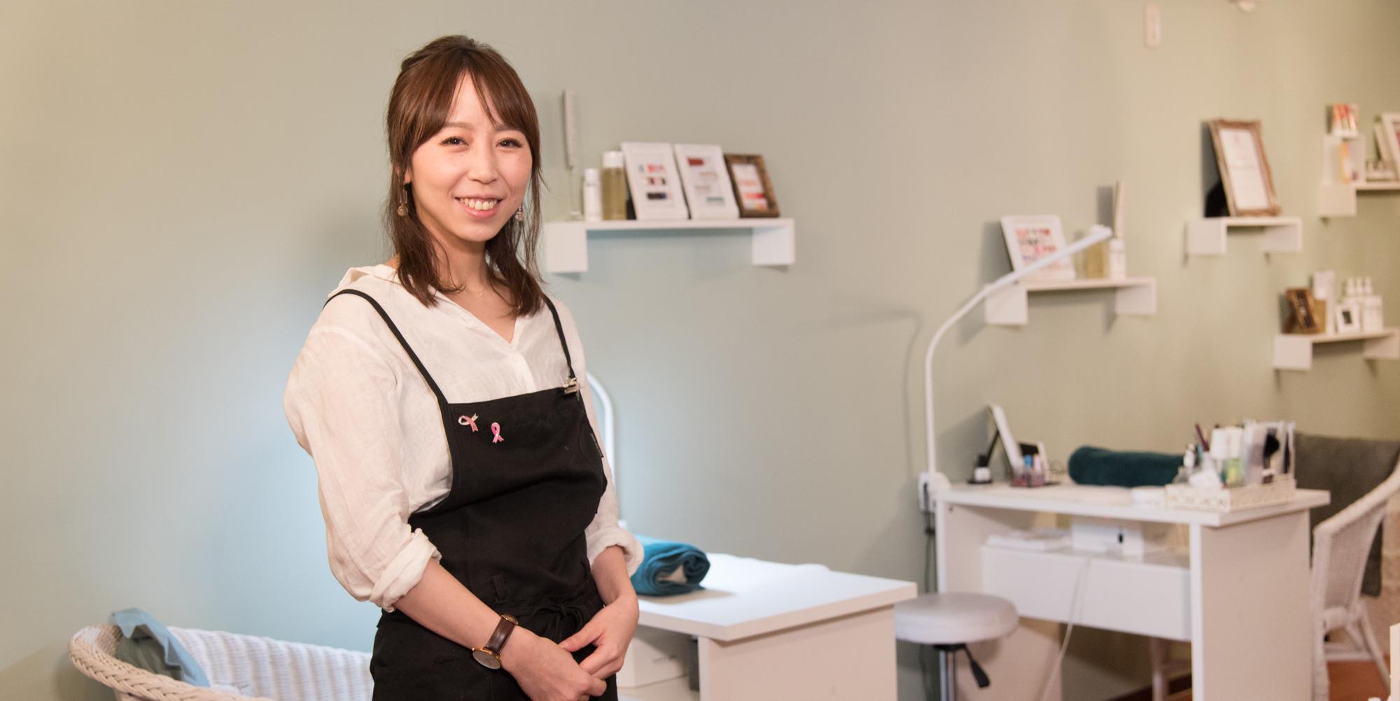 熊谷諭嘉子さん/子育てしながらネイリストの道へ挑戦。売上比率トップに輝くパートママの次なる夢とは?